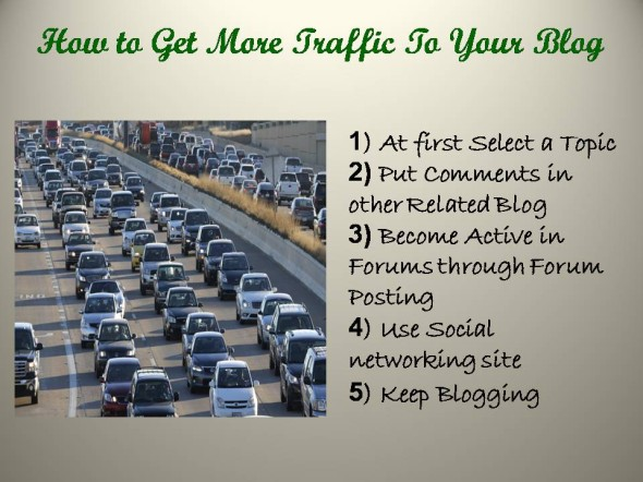 huge traffic to your blog