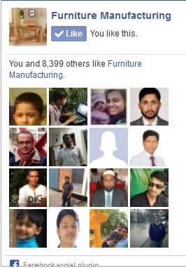 facebook like page of furniture manufacturing