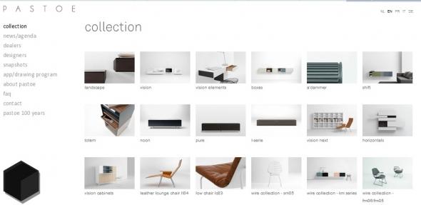 pastoe furniture site