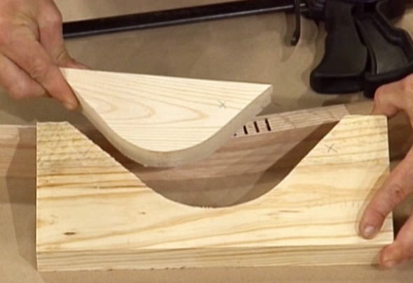 Kerfing Wood Bending Method