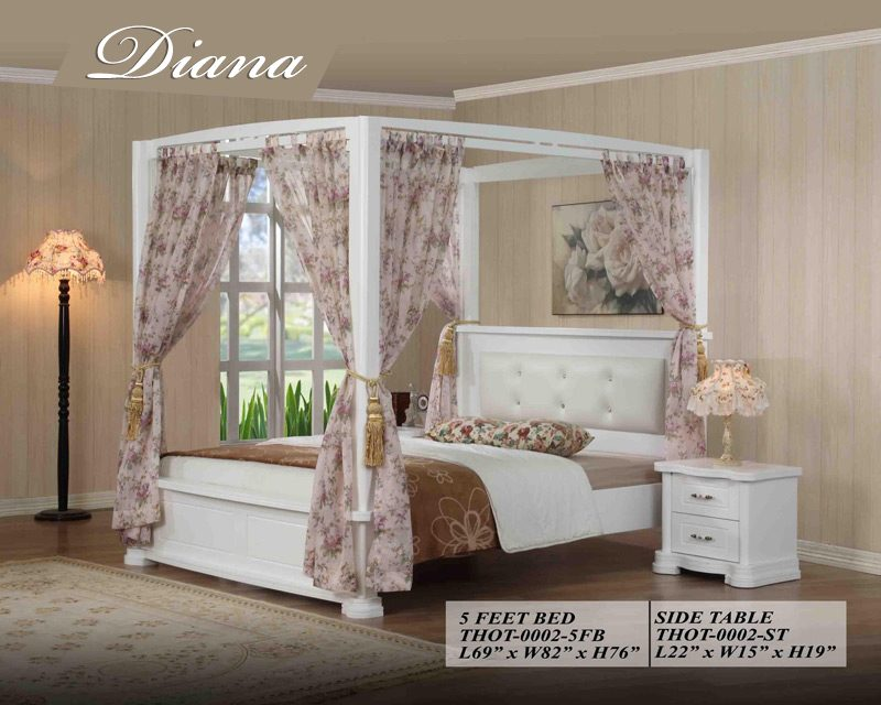 Diana bedroom set of partex furniture for Diana bedroom set