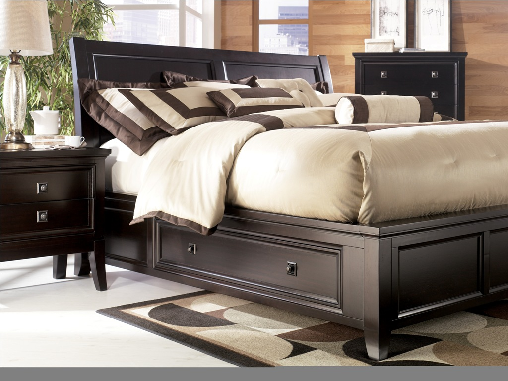 sets king storage furniture of bedroom platform ashley set bed size elegant