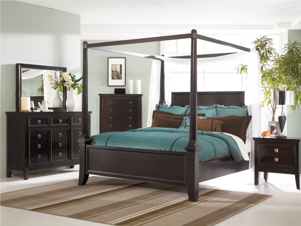 . Martini Suite Poster Bedroom Set of Ashley Furniture