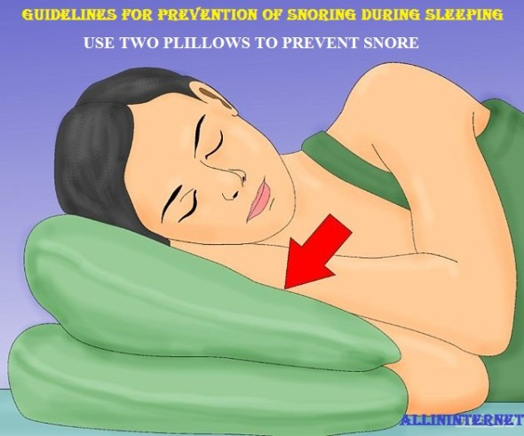 Guidelines for prevention of snoring