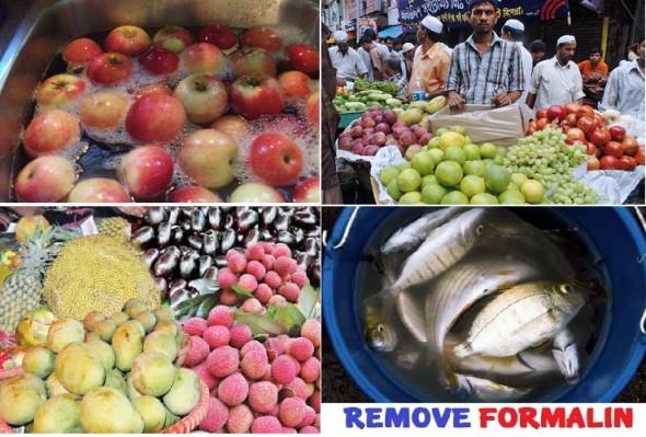 Remove formalin process