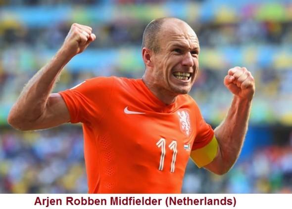 Arjen Robben Midfielder the top 10 footballers of the present time
