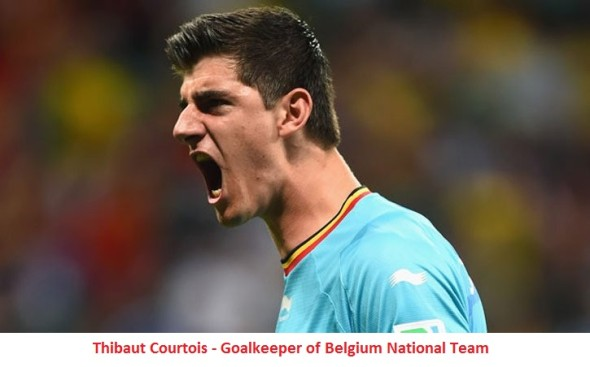 Thibaut Courtois of Belgium of  Top 10 Footballers of Present Time