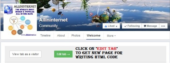 click on edit tab to get dofollow backlink from facebook