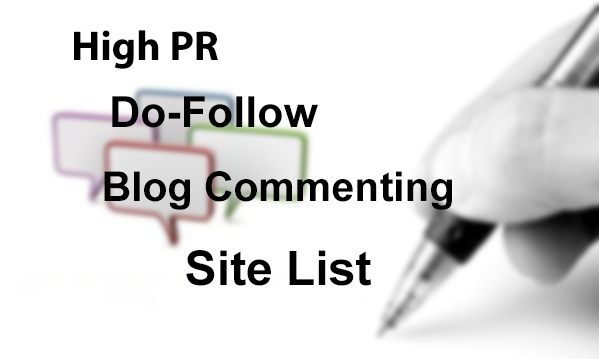 Updated High PR Do-follow Blog Commenting Sites List 2014