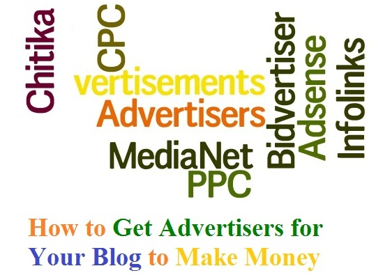how to get advertisers to our blog