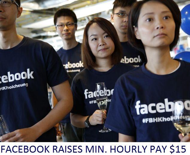 facebook's minimum hourly pay raises to 15 dollar