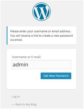 get new password