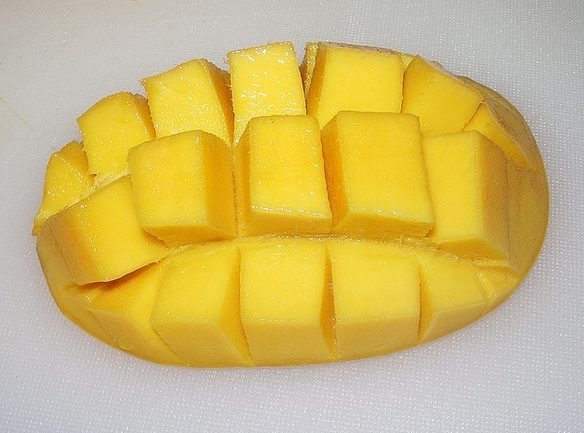 Mango Cutting like Pine Apple
