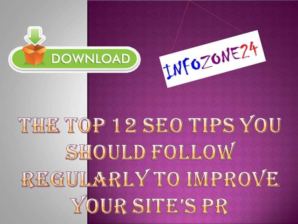 top 12 SEO Tips