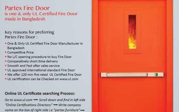 UL Certified Partex Fire Door | The Only One UL Certified Fire Door Made in Bangladesh