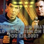 In 2006, William Shatner sold which item on eBay for $25,000?