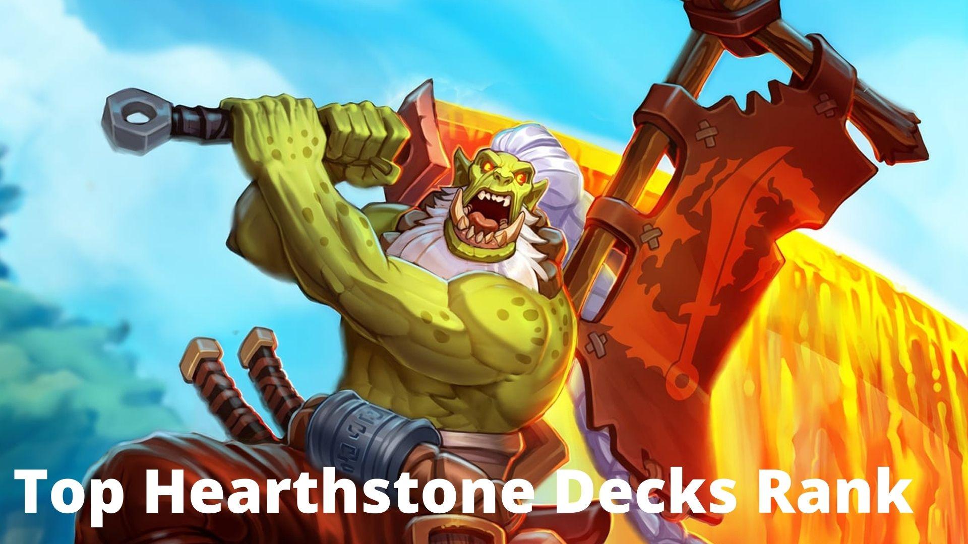 Top Hearthstone Decks Rank