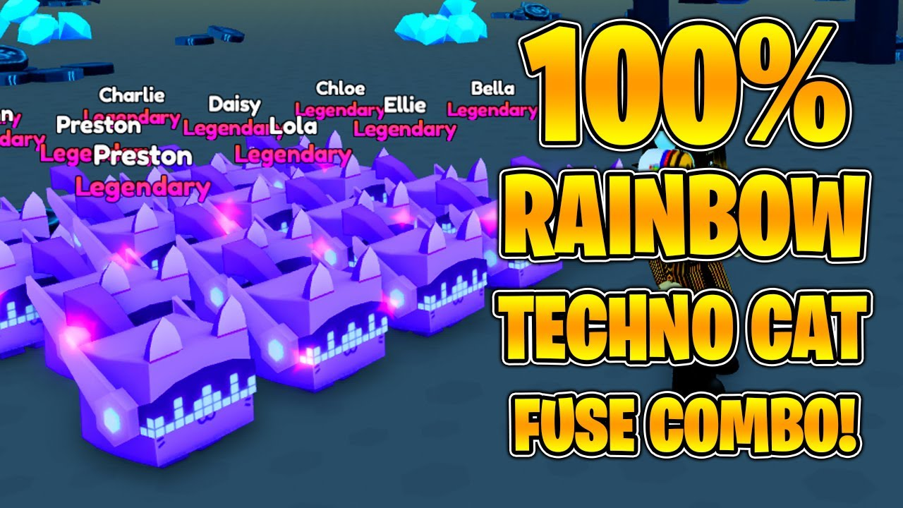 How to fuse the tech cat in pet simulator X?